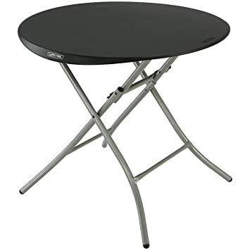 Lifetime Products 80351 Round Folding Table, 33u0026quot;, ...