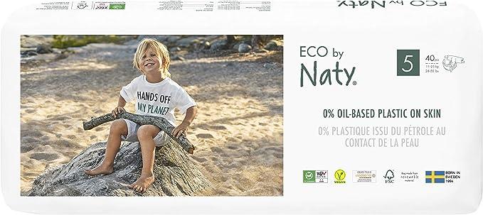 Eco by Naty 8178457, Talla 5, 80 pañales, 11-25kg, Pañal ecológico ...