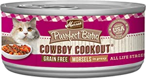 Merrick Purrfect Bistro Grain Free, 3 oz, Cowboy Cookout - Pack of 24