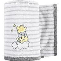 "Disney Baby Winnie the Pooh Fleece Blanket, White, 30"" x 40"""