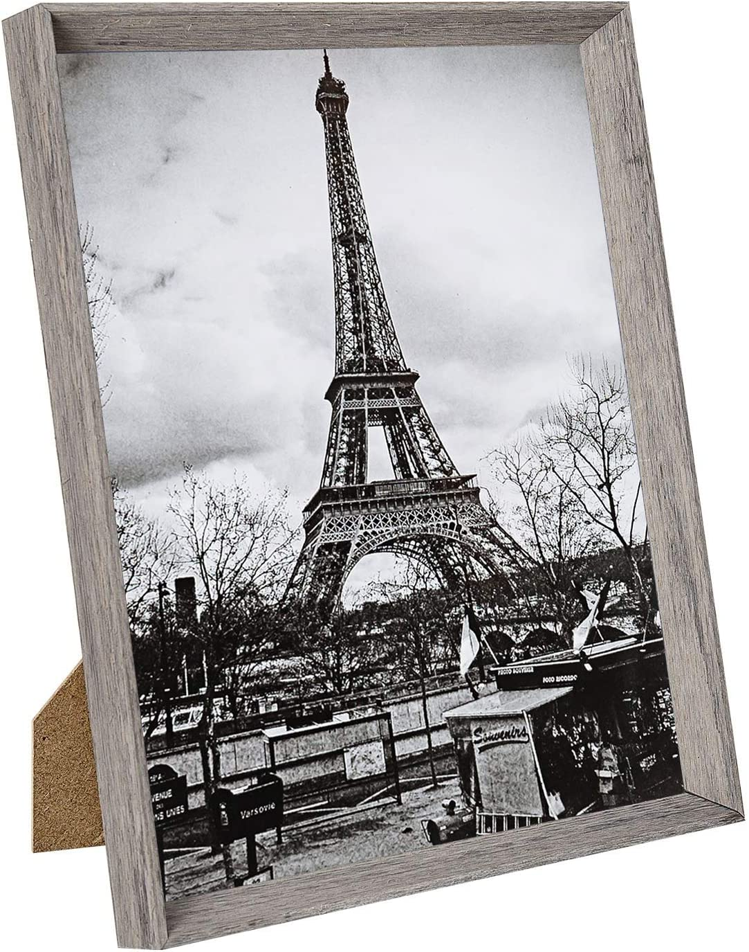 upsimples 8x10 Picture Frame with Real Glass and Mat,Rustic Photo Frames for Wall or Tabletop Display,Set of 5