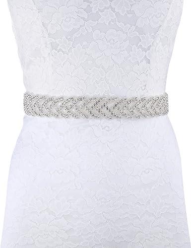 BABEYOND Rhinestone vestido de novia cinturones y martillos marfil cristal Applique cinturón cintura...