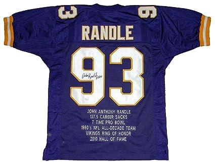 online retailer aea46 e97b4 John Randle Autographed Jersey - #93 Stat W Hof 10 - JSA ...
