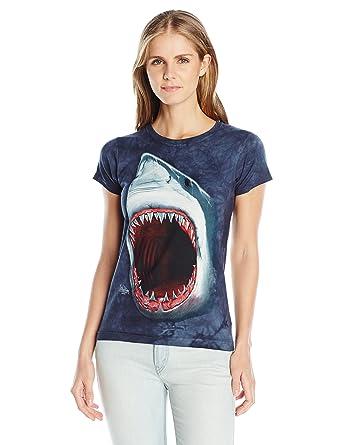 03220e4e Amazon.com: The Mountain Junior's Shark Bite Graphic T-Shirt: Clothing