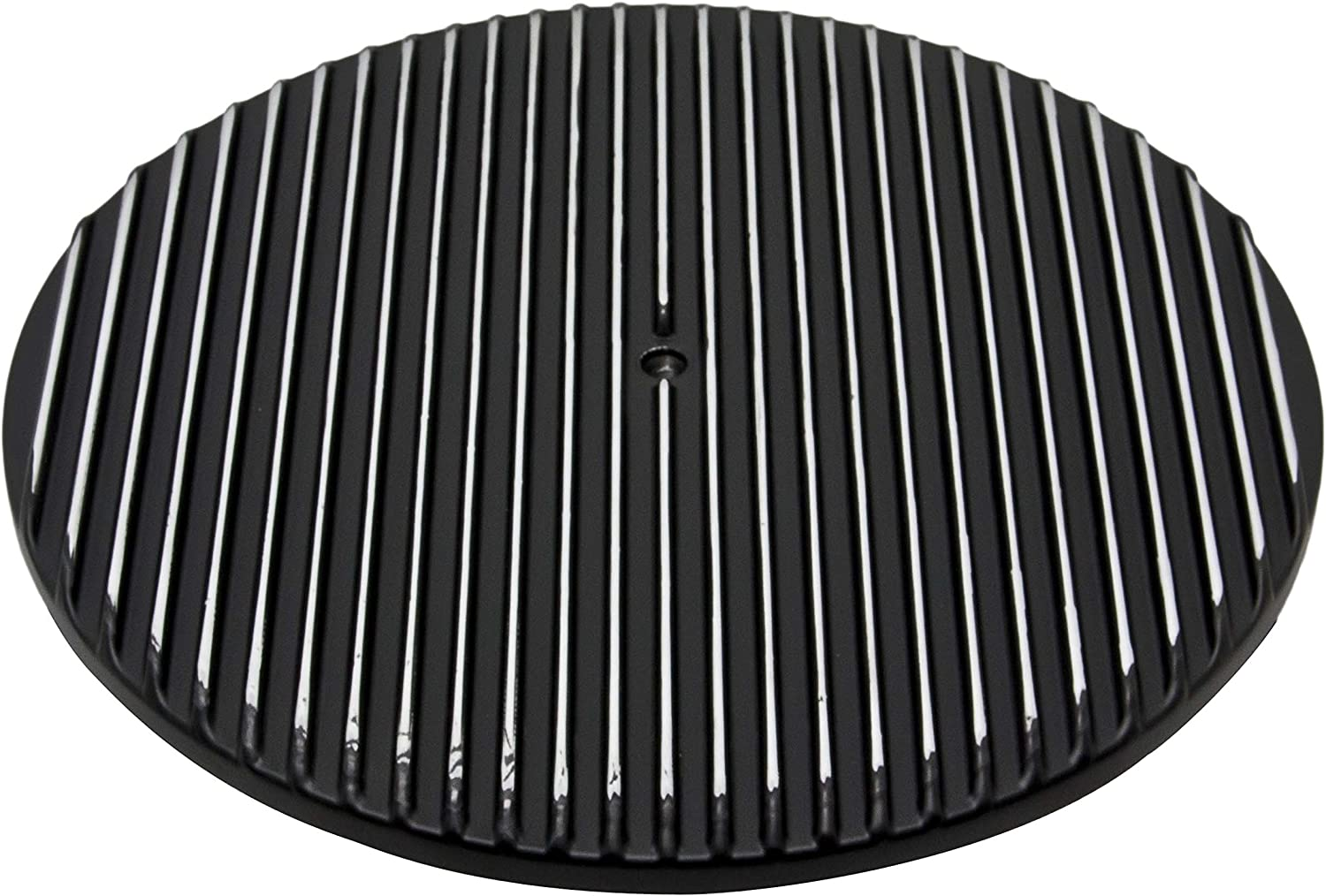 "Full Finned Chevy Ford Mopar 14/"" Round Polished Aluminum Air Cleaner Top"