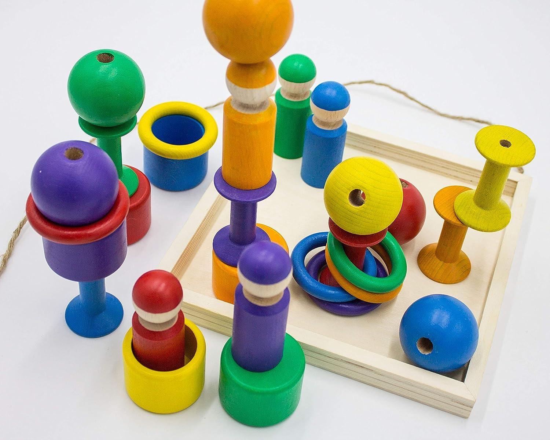 Montessori Kleinkind Waldorf Pikler Spielzeug Holz Öko Natur