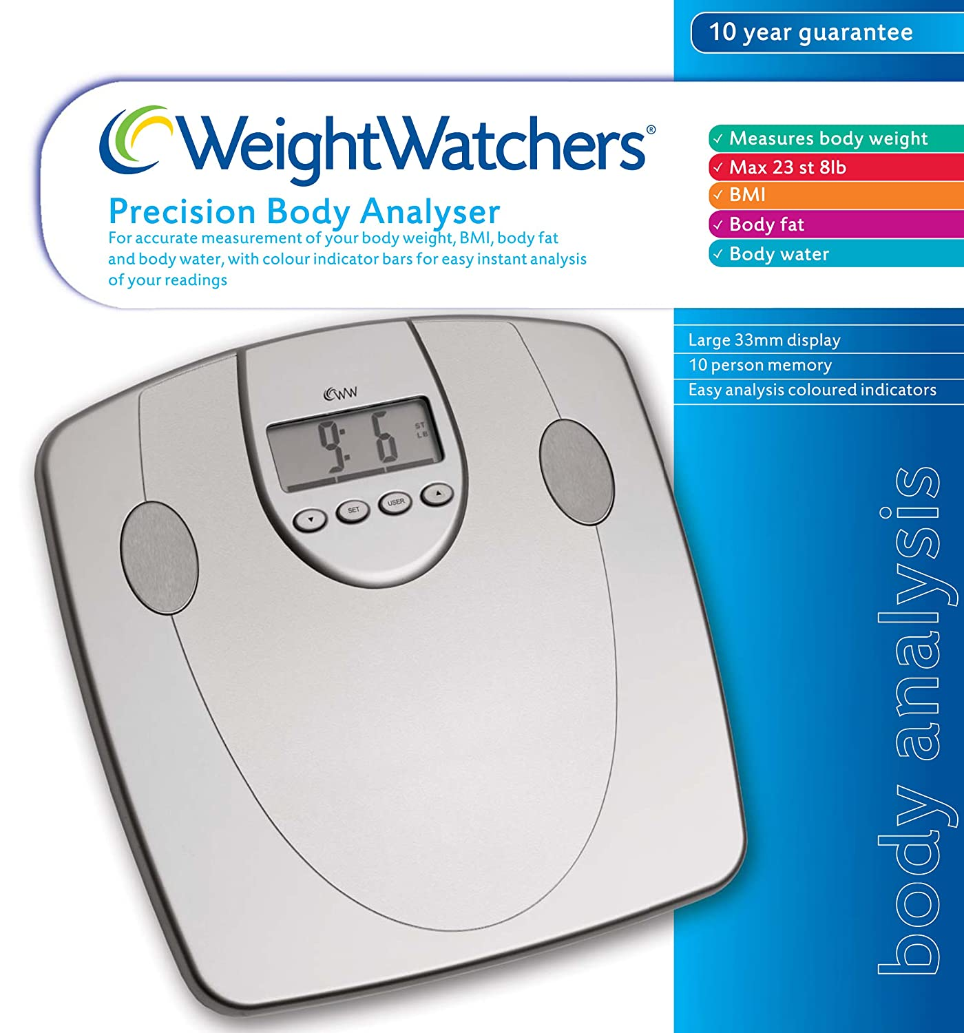 Weight Watchers 8991BU - Báscula de precisión: Amazon.es: Salud y cuidado personal