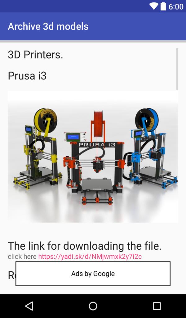 Impresora 3D Modelos 3D Archivo: Amazon.es: Appstore para Android