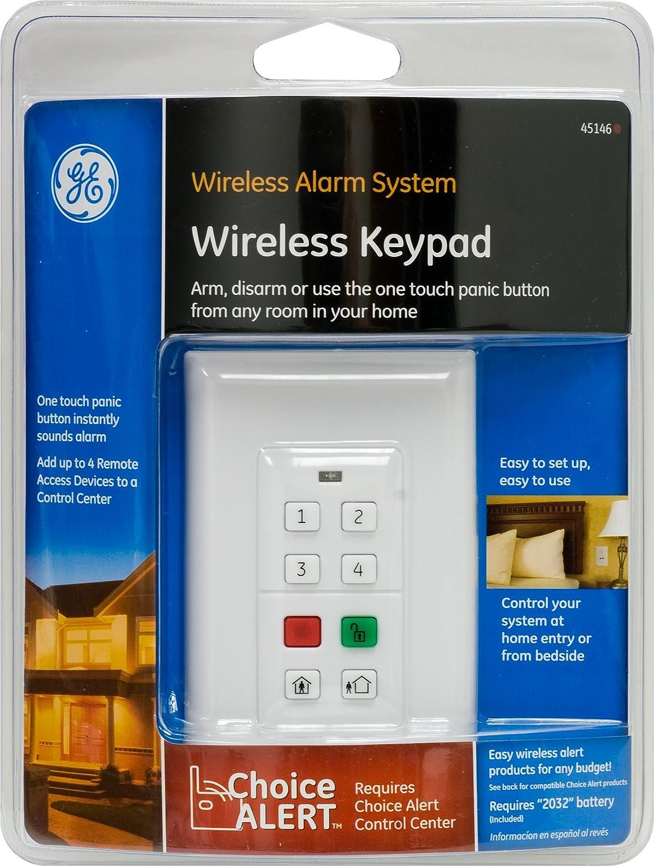 Ge Remote Access Ge Choice Alert Wireless Alarm System Wireless Keypad Household