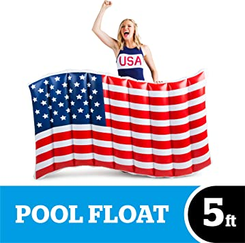 BigMouth Inc Gigante bandera americana flotador: Amazon.es: Juguetes y juegos