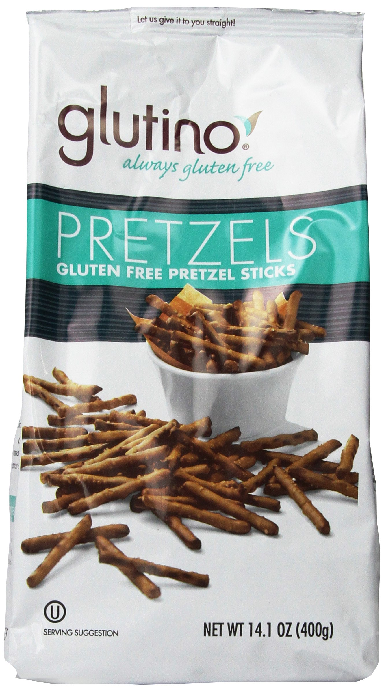 Glutino Gluten Free Pretzel Sticks, 14.1-Ounce Bags (Pack of 12) by Glutino (Image #1)