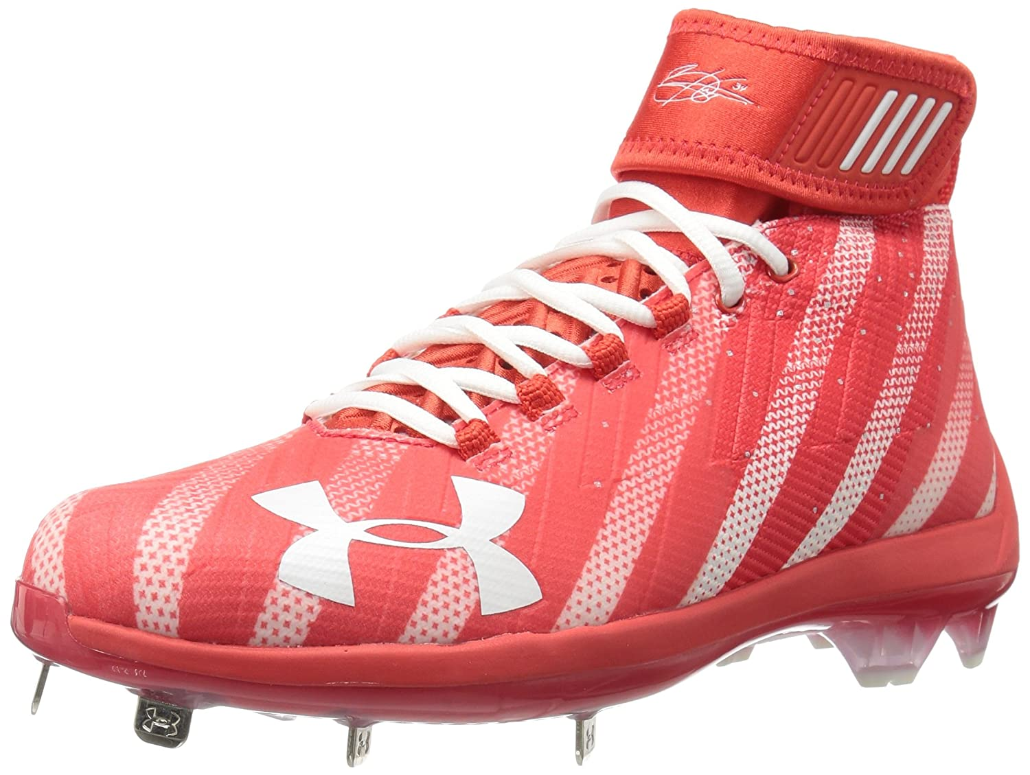 Under Armour メンズ 1301957 B06XH93DBV  Red (614)/White 6.5 D(M) US