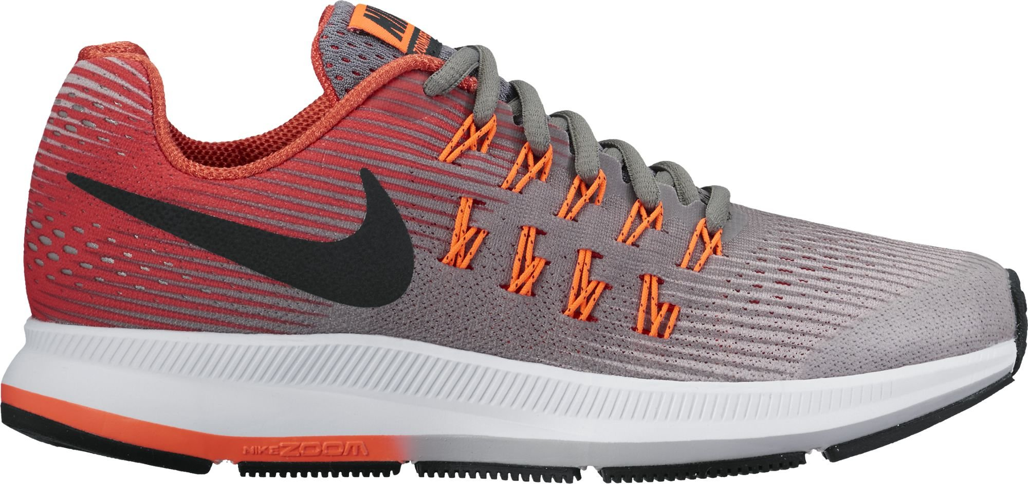 Nike Boy's Zoom Pegasus 33 (GS) Running Shoe (3.5Y-7Y) Cool Grey/Black/Wolf Grey/Track Red Size 5.5 M US by NIKE