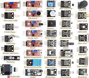 DEYUE 38 in 1 Sensor Module kit for Arduino Rapsberry Pi Project