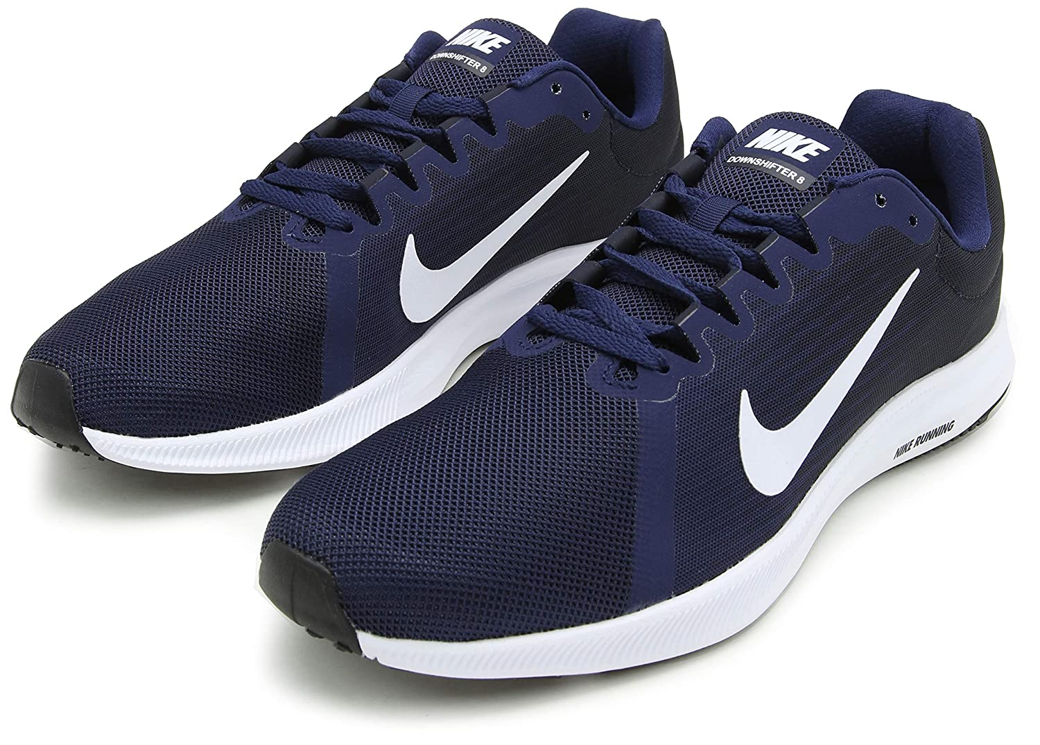 best sneakers 60b1c d5404 Nike Men s Downshifter 8 Navy Blue Running Shoes (908984-400)  Buy Online  at Low Prices in India - Amazon.in