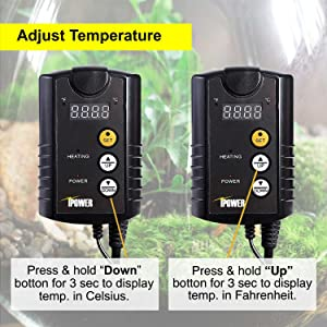 iPower 40-108 Degrees Fahrenheit Digital Heat Mat Thermostat Controller for Seed Germination, Reptiles and Brewing