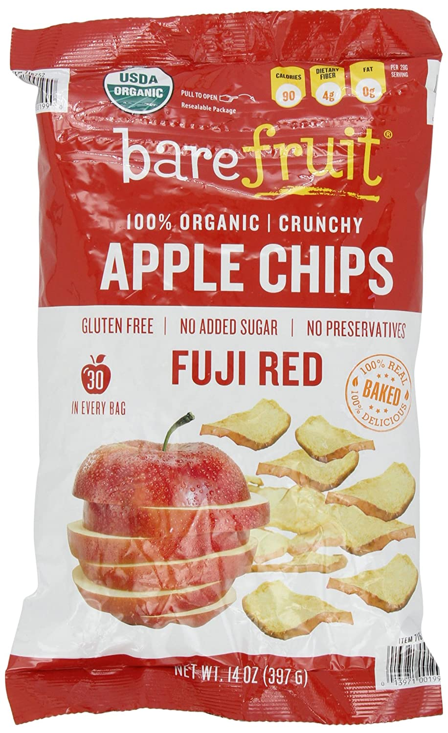 amazoncom bare organic fuji apple chips glutenfree baked 14ounce bag pack of 2