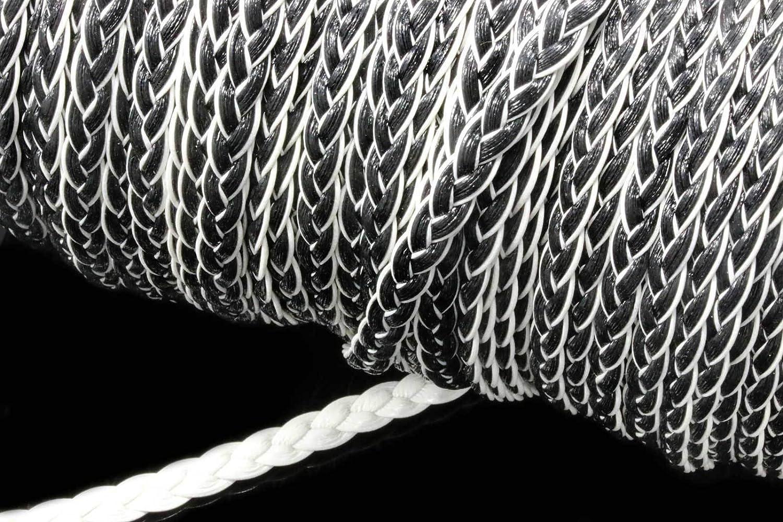 Kunstlederband flach geflochten 7x3mm 1//5m Zopf Schnur Band KLB-16