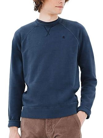 Scalpers Sudadera Garment Dye Logo Calavera - Navy/XXL: Amazon.es ...