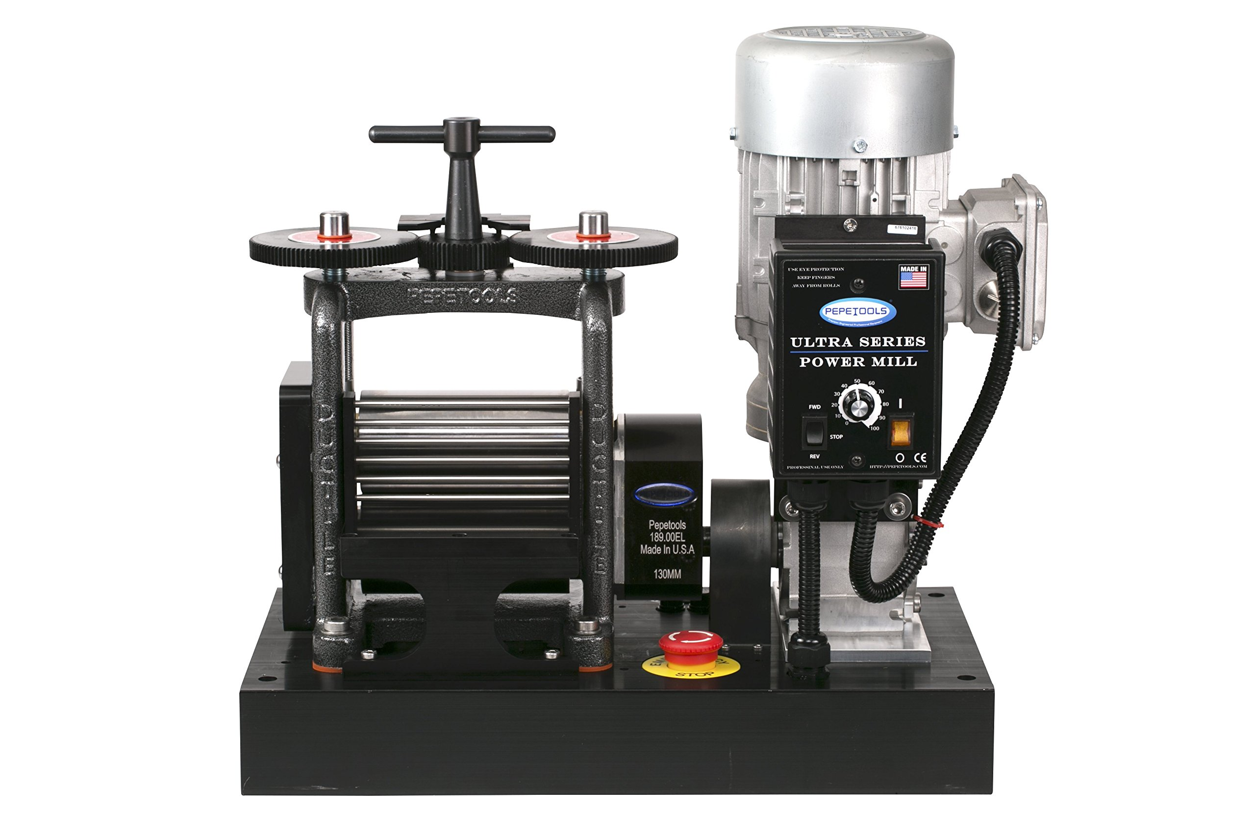 PepeTools Ultra Power Electric Combination Rolling Mill 130mm, MADE IN THE USA by Ultra Power