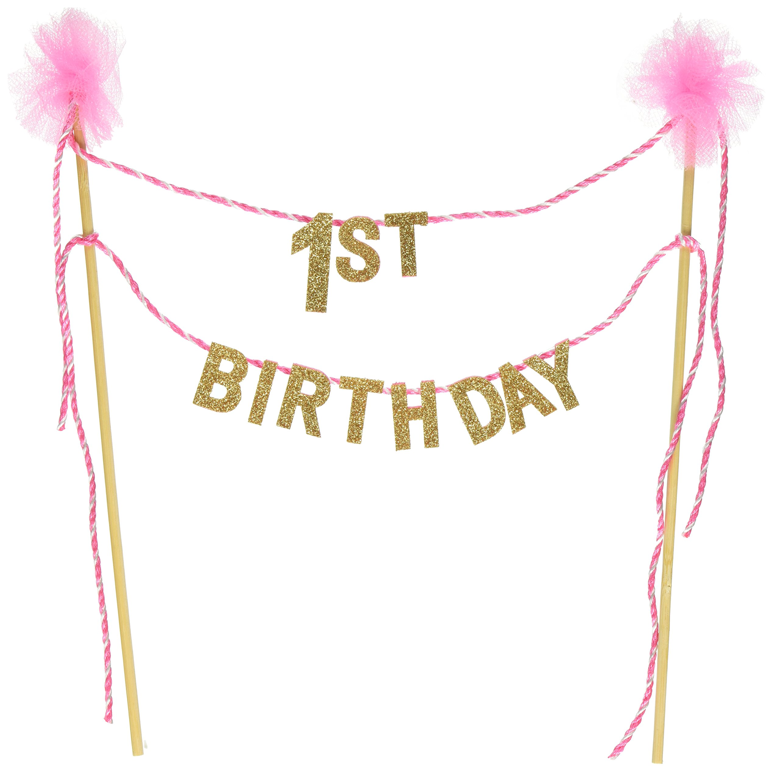 Amazon Com Mud Pie One Pennant Happy Birthday Girl High