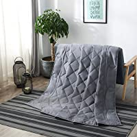 """7-Layer Weighted Blanket Twin Size for Adult 15lbs 48""""X72"""" Single Double Size Bed Cooling Gravity Heavy Duvet Qulit…"""