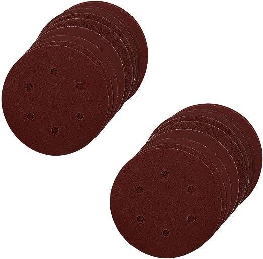 Hook//Loop Sanding Abrasive Discs Orbital DA Palm Sander 20PK 150mm Mixed Grit