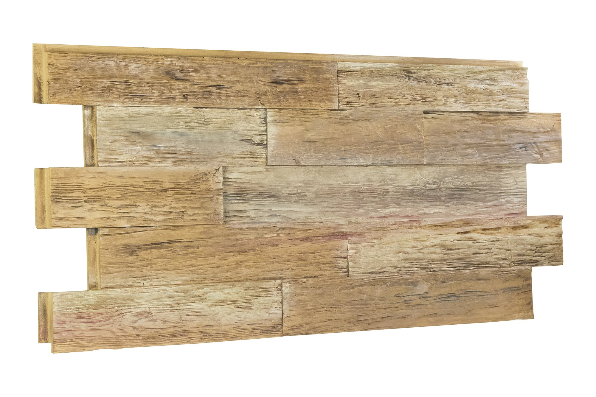 Time Weathered Rustic Faux Wood Paneling - 7.6 SQ Ft (Steak-House)