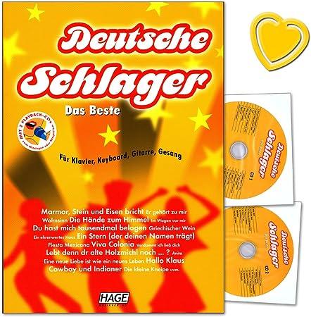Deutsche Schlager lo mejor para Piano, Teclado, Guitarra y voz – Fácil hasta medio Arreglados, Plus Song textos, Acordes y tabla de mango acorde – con ...