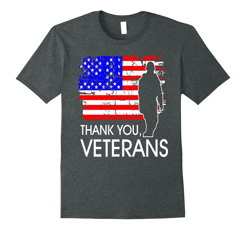 Thank You Veterans Memorial Day Pride T shirt-Vaci
