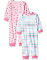 Amazon Essentials Baby Girls 2-Pack Coverall