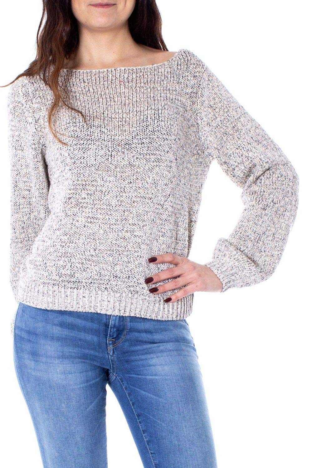 Only Women's 15170683BEIGE Beige Cotton Jumper