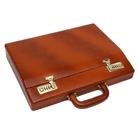 6ff2bb3234 Hammonds Flycatcher Black Forest Tan Briefcase  Amazon.in  Bags ...