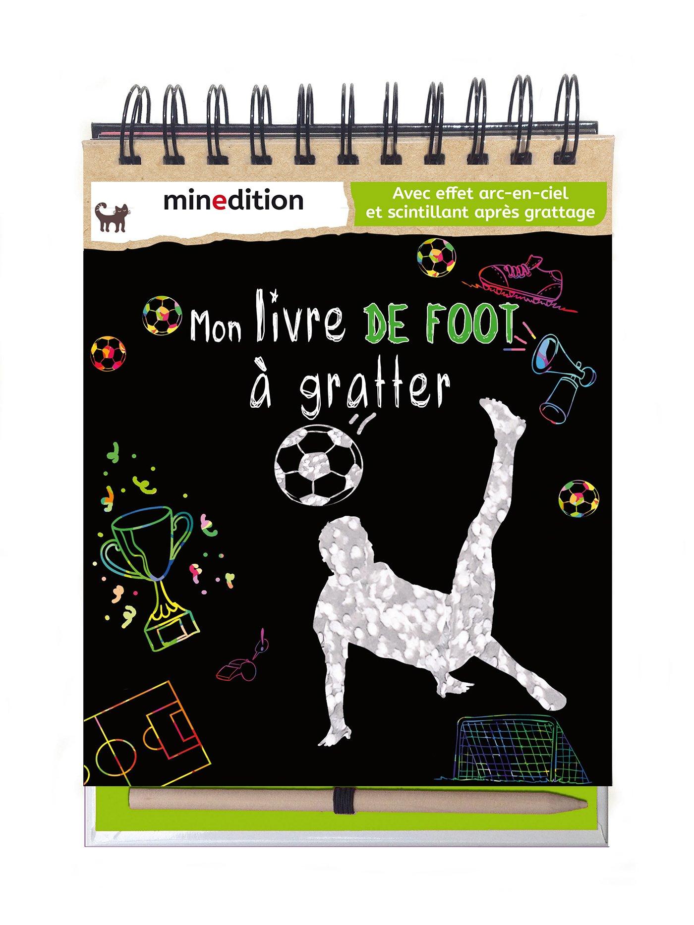 Mon Livre De Foot A Gratter Avec Un Crayon En Bois