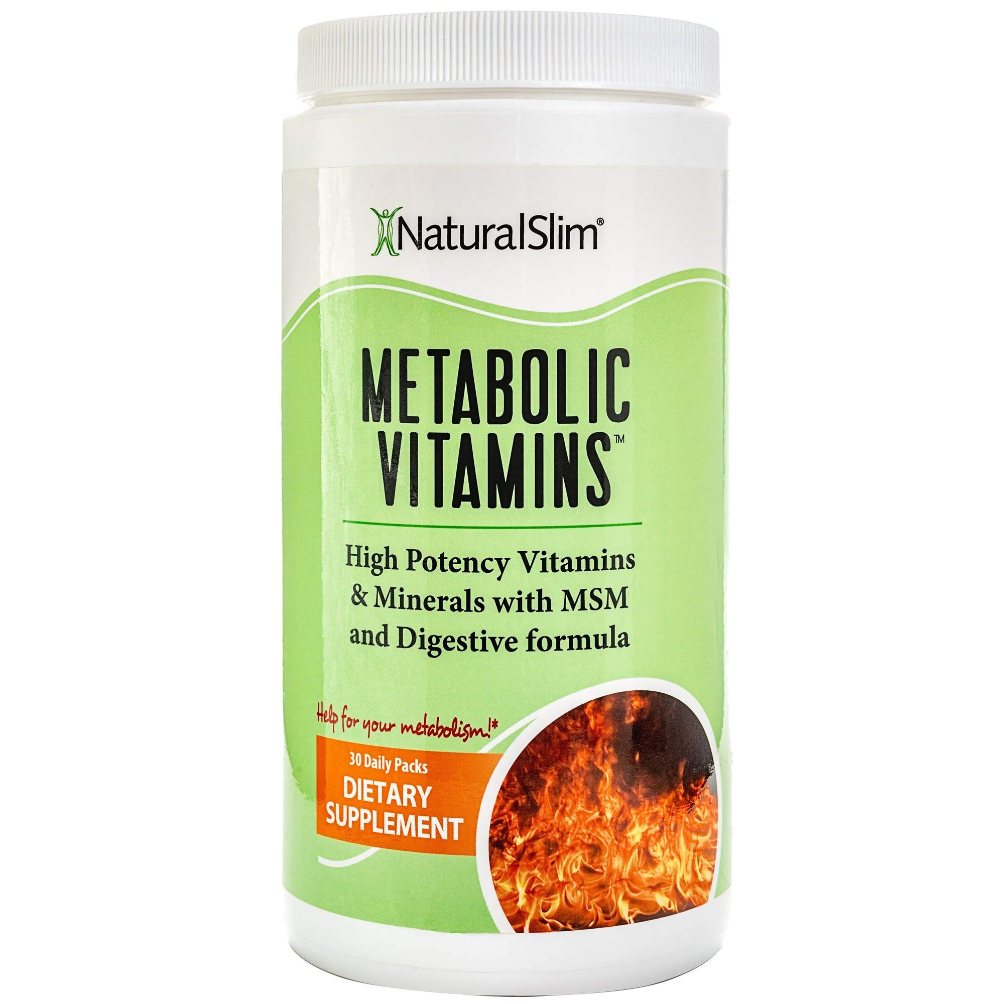NaturalSlim Metabolic Vitamins, Formulated by Award Winning Metabolism and Weight Loss Specialist- High Potency Vitamins and Minerals with MSM and Digestive Formula