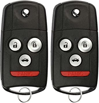 Pack of 2 KeylessOption Keyless Entry Remote Control Car Key Fob Replacement for E4EG8D-444H-A