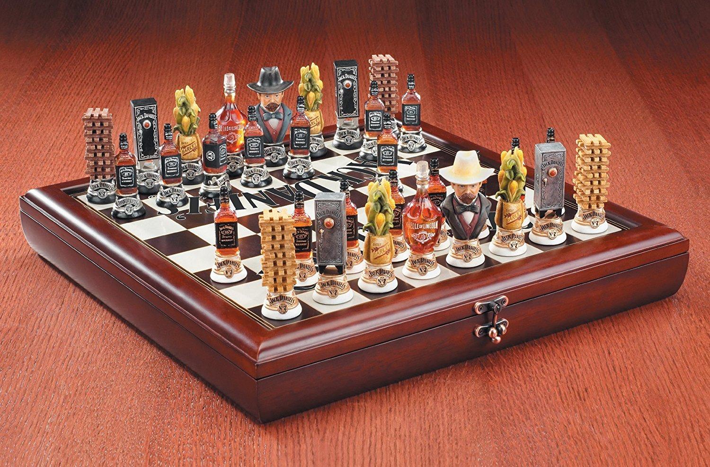 アメリカ雑貨 ジャックダニエル JACK DANIEL'S チェス セット B0797LTVQR