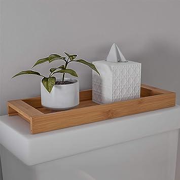 Amazon Lavish Home Bamboo Bathroom Vanity Tray Natural Wood Eco