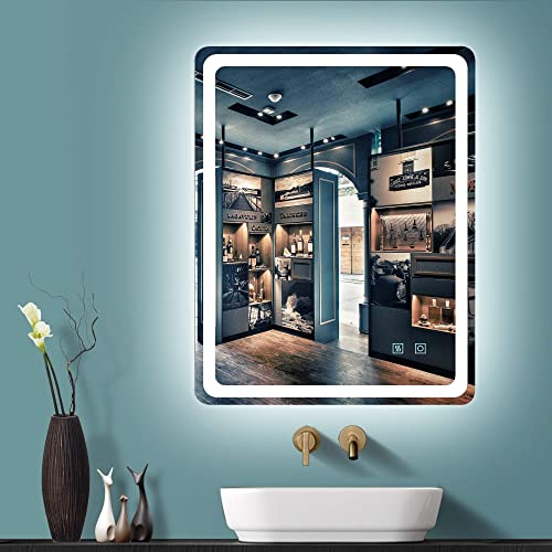GETPRO 36X28 LED Bathroom Mirror Wall-Mounted Makeup Vanity Mirror