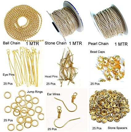 802242a5be Beadsncraft For Silk Thread Jewellery Making Mini Kit, ( 9 Items ):  Amazon.in: Home & Kitchen