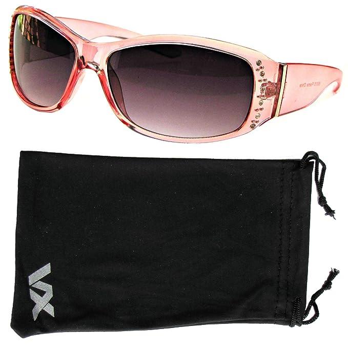 Gafas de sol moda sobredimensionadas Rhinestones gafas de VOX mujeres
