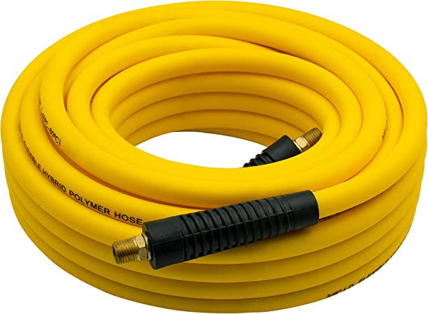 Remains Flexible in Cold Temperatures 300 PSI Professional Grade Polyurethane 1//4-Inch x 50 Ft Metabo HPT 115155M Air Nailer Hose 1//4-Inch Industrial Fittings Spiral Reinforced