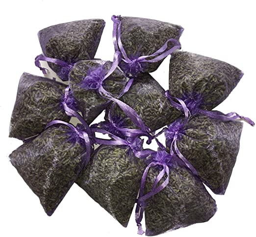 Set of 20 Lavender Sachets made with Ivory Organza Bags