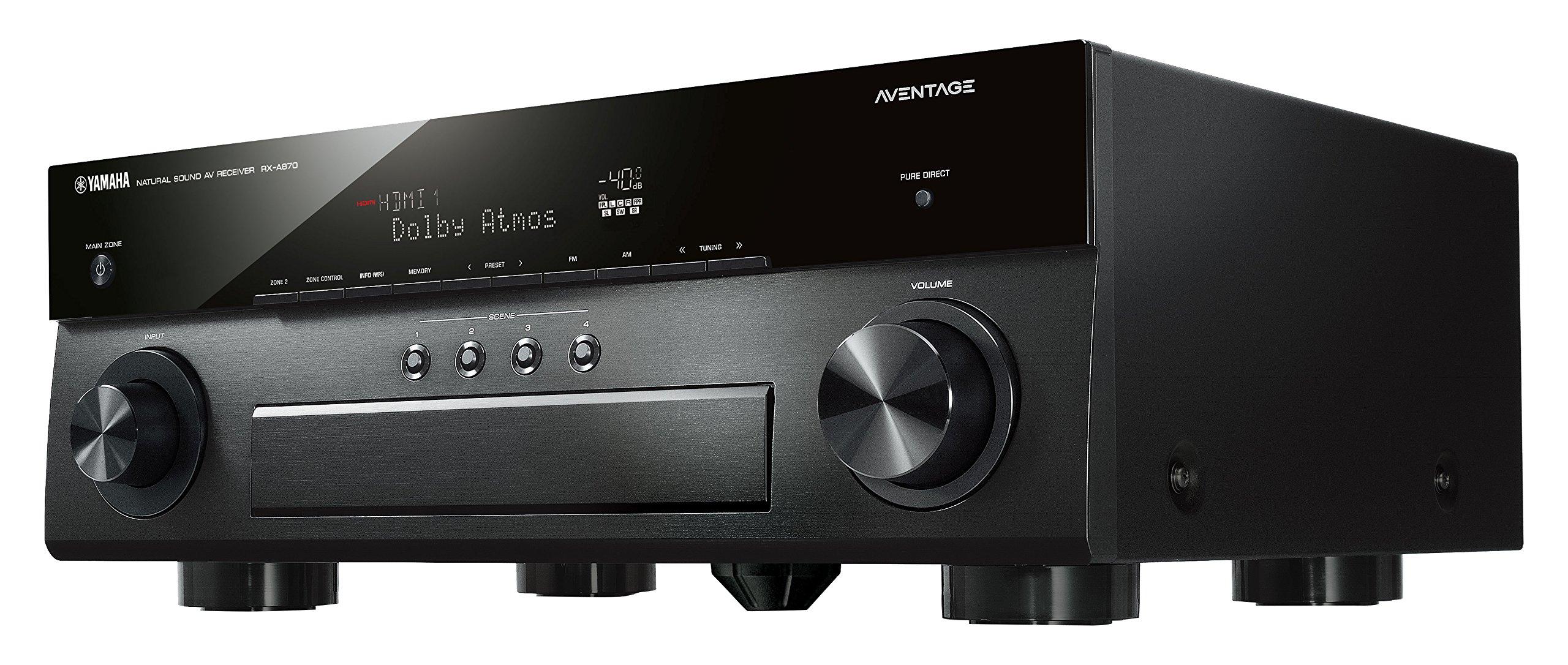Yamaha AVENTAGE Audio & Video Component Receiver,Black (RX-A870BL)