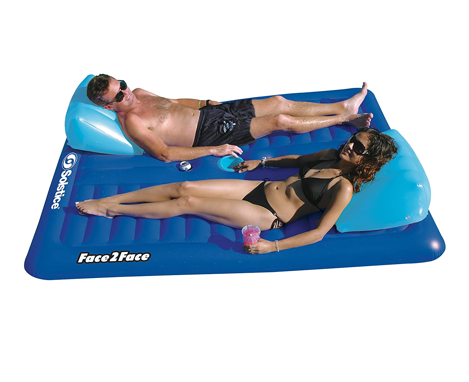 Inflatable Floating Pool Chair Lounge Float Raft Water