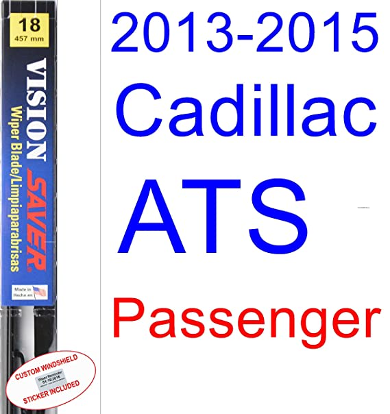 Amazon.com: 2013-2015 Cadillac ATS Replacement Wiper Blade Set/Kit (Set of 2 Blades) (Saver Automotive Products-Vision Saver) (2014): Automotive