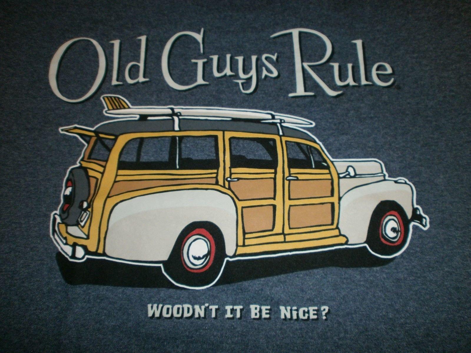 Old Guys Rule Woody Wouldn't IT BE Nice SURF Surfboard Longboard FIN Beach XL