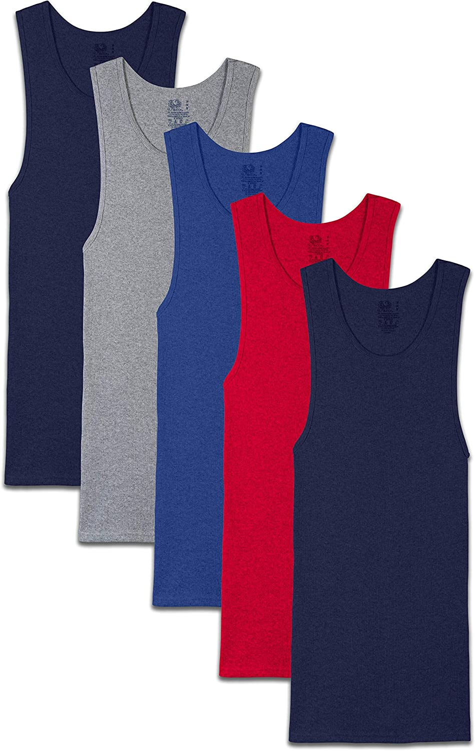 Fruit of the Loom Men's Tag-Free Tank A-Shirt
