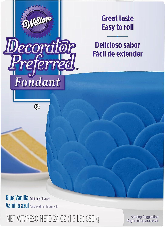 Wilton Decorator Preferred Blue Fondant, 24 oz. Fondant Icing