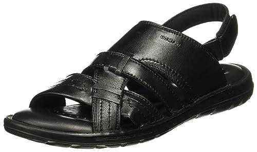 73c94215ca26 BATA Men s Twister Sandal Black Leather Sandals-10 UK India (44 EU)